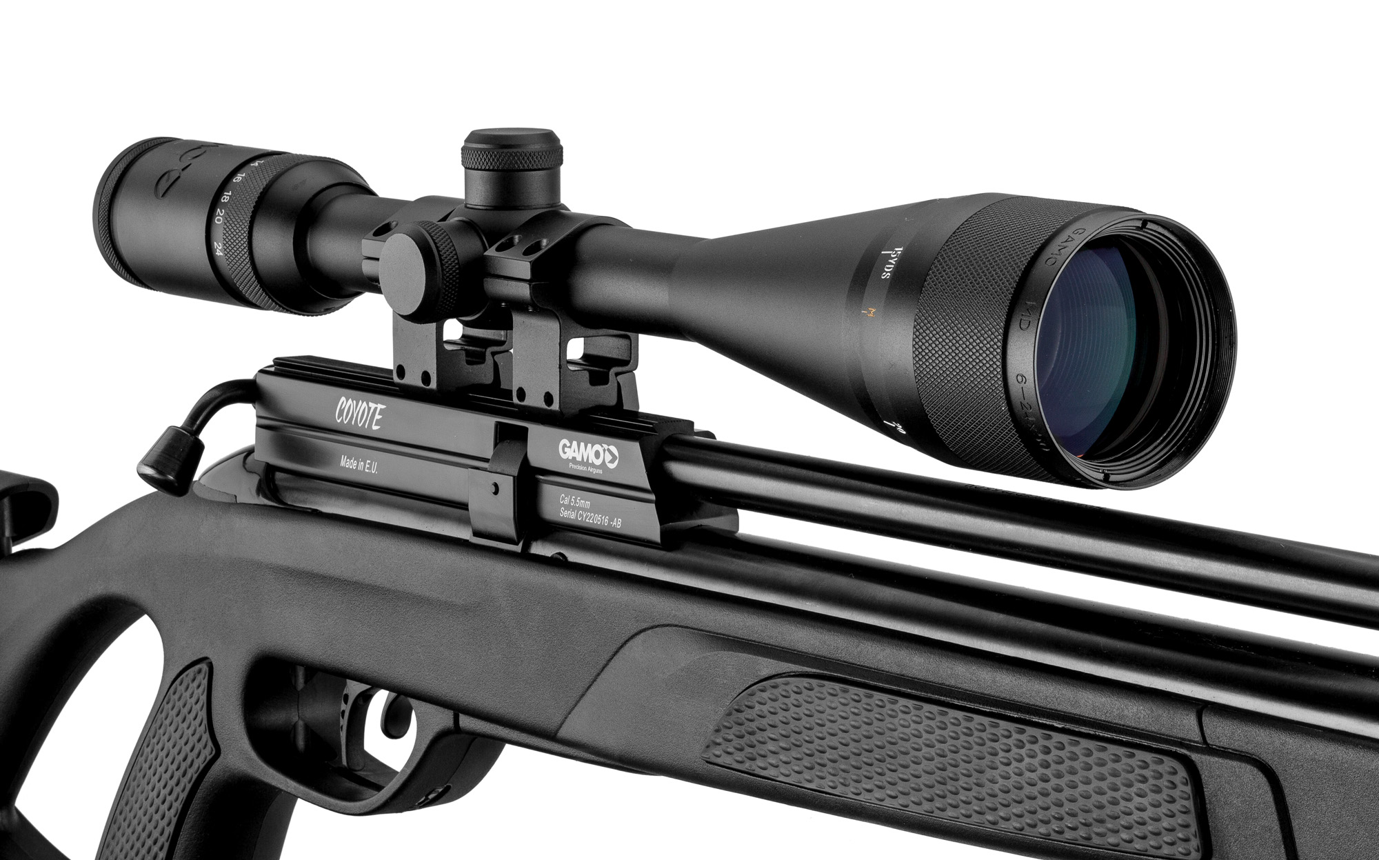 Pack carabine Gamo PCP Coyote cal. 5,5 mm