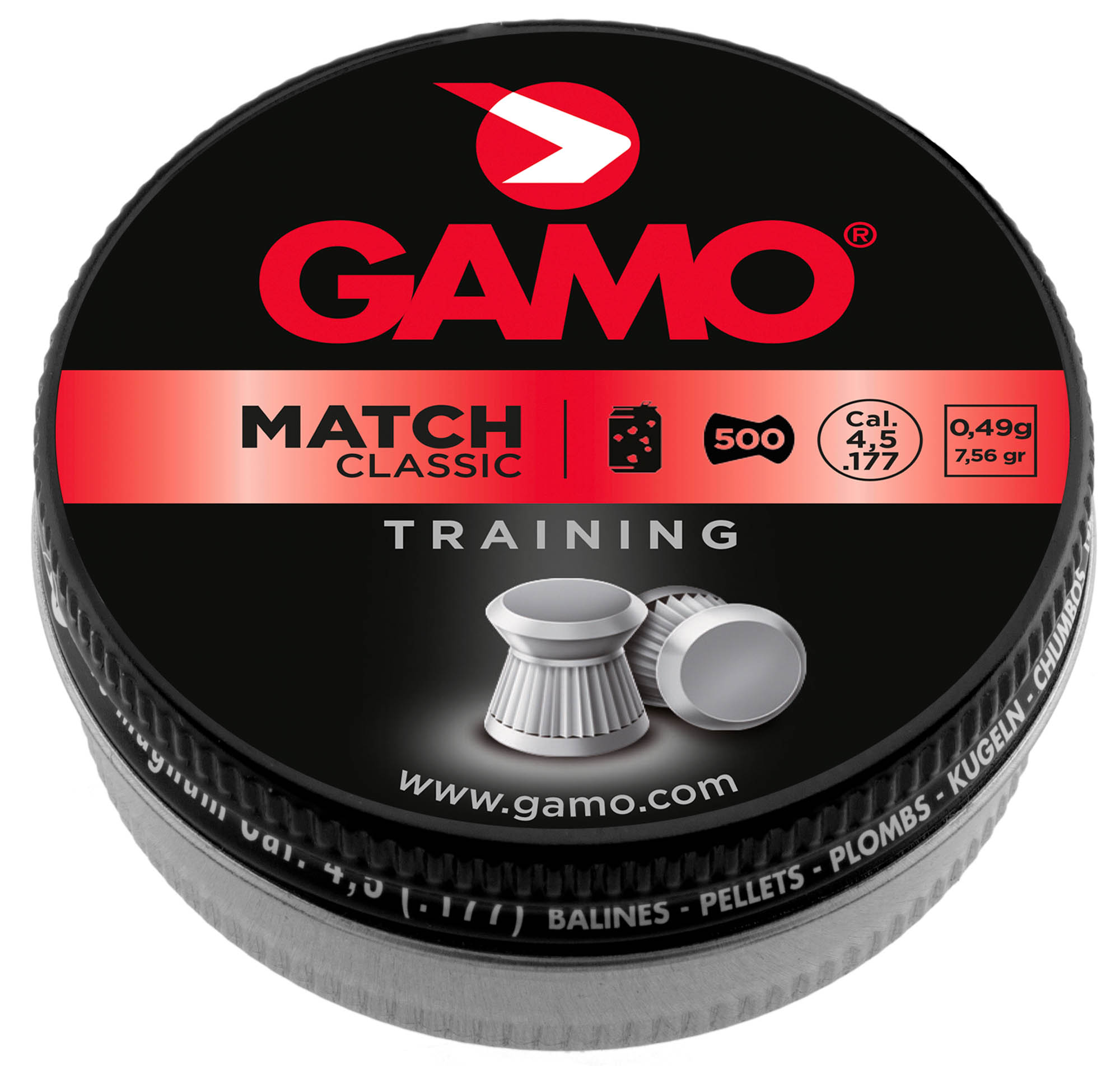 Plombs Gamo Match classic plat cal.4.5mm