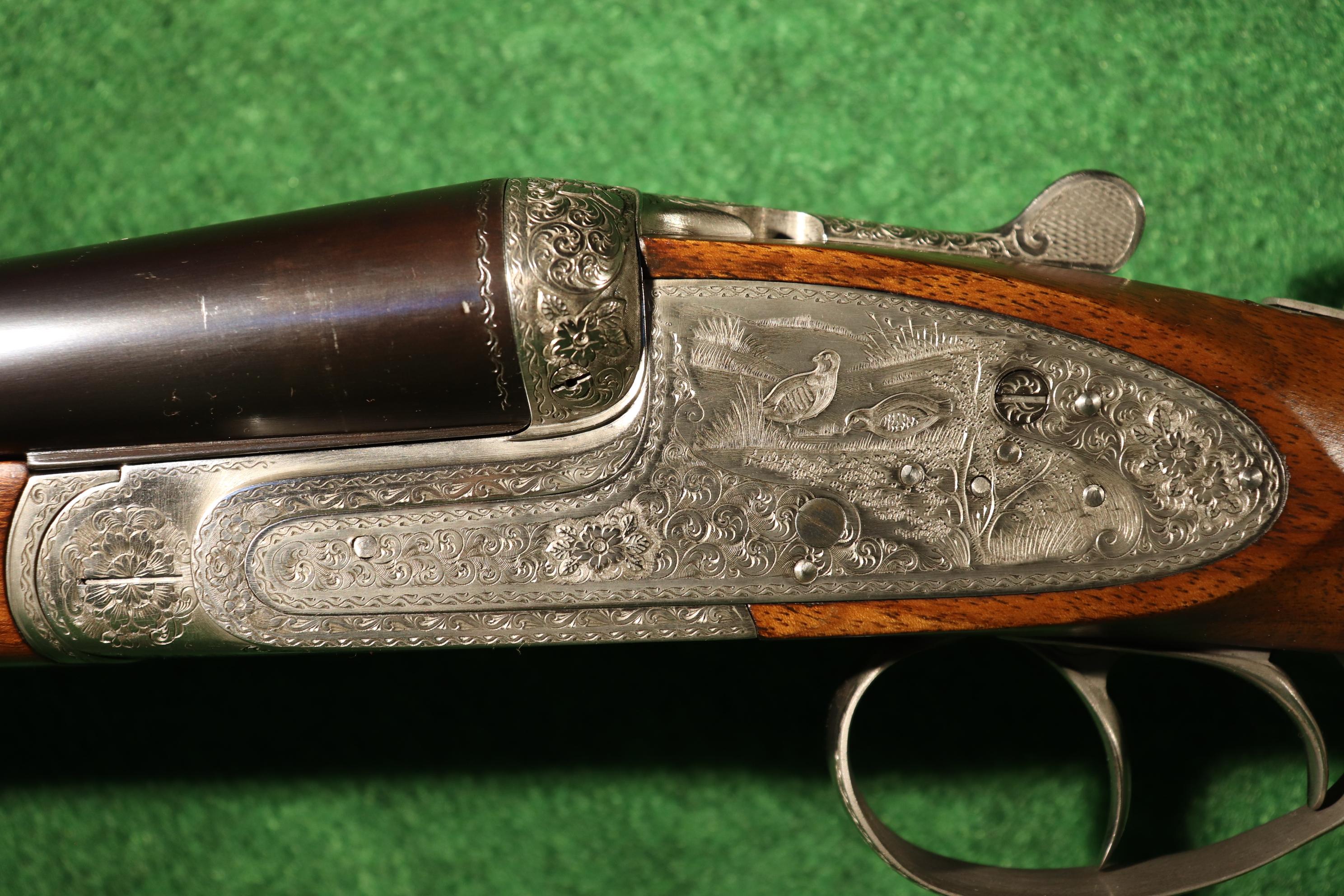 Fusil à Platine gravure V.Lefranc